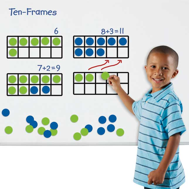 Giant Magnetic Ten-Frame Set Of 4