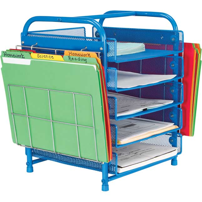 Really Good Desktop Classroom Papers Organizer™ With Two Wire Works  Paper Holders