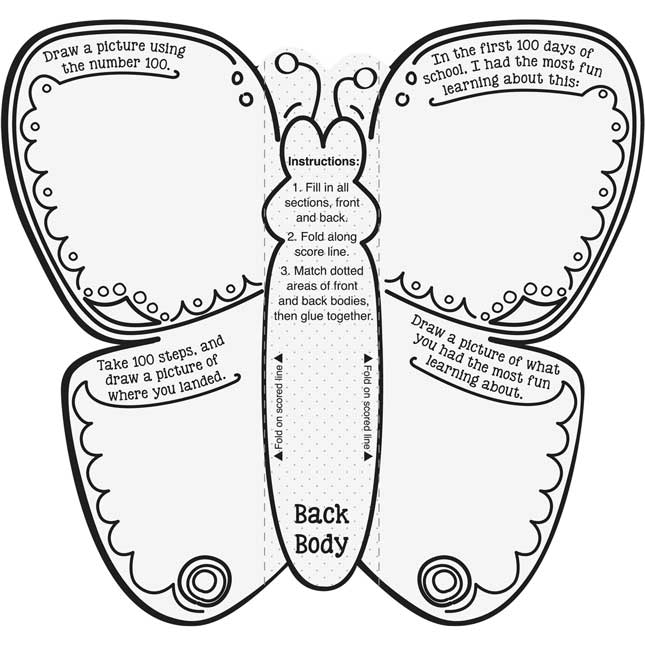 Ready-To-Decorate® 100th Day 3-D Butterfly Bulletin Board Set