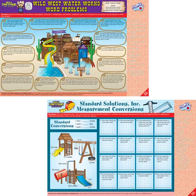 Skill Stretchers With Decoders™ Grade 4 Math - Set 2
