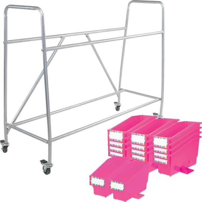 Really Good Classroom Library Rack With Book And Binder Bins