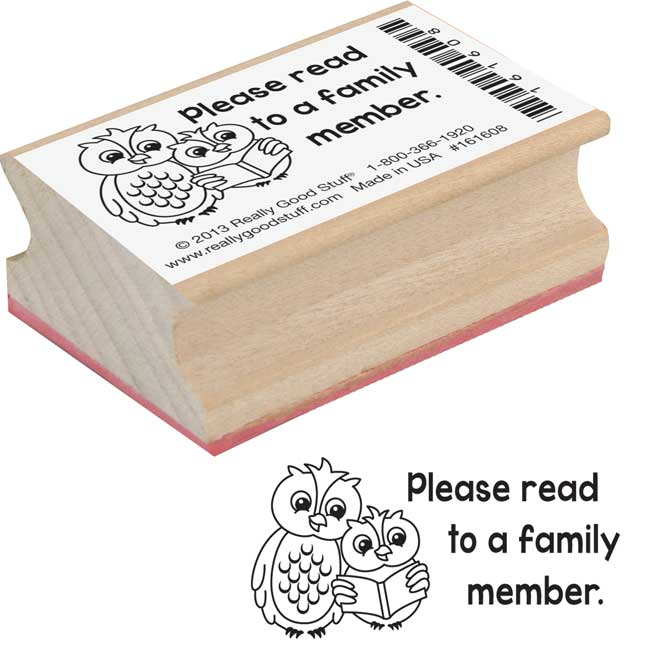 Student/Parent Reminder Rubber Stamp Set