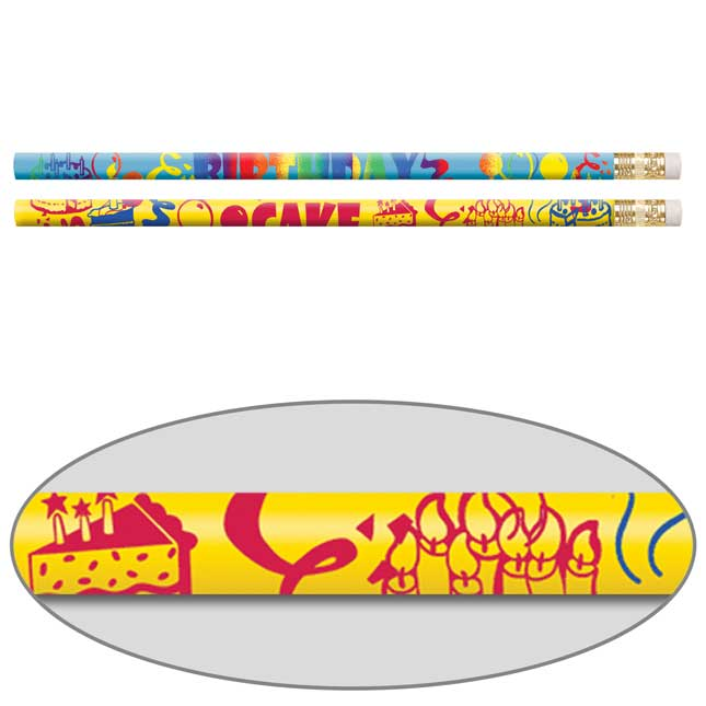 Birthday Cake Scented Pencils - 12 scented pencils