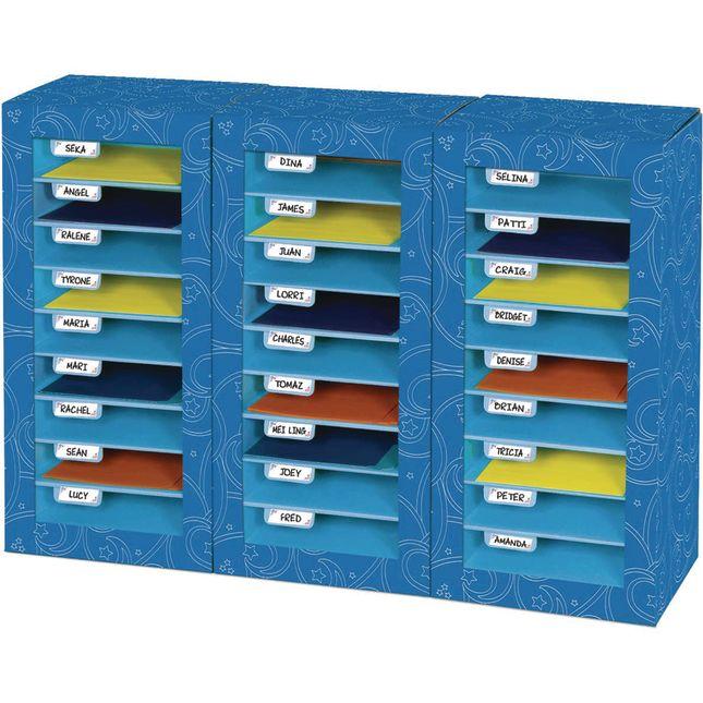 Store More® Classroom Mail Center - 27 Slot Swirl Star Design