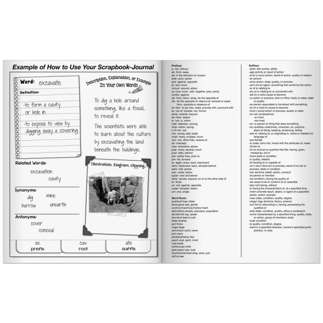 Vocabulary Acquisition And Use Scrapbook-Journals - 12 journals