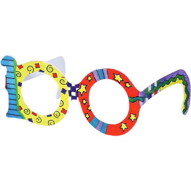 100th Day Glasses And Crowns Kit - 24 glasses, 24 crowns