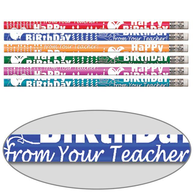 Happy Birthday From Your Teacher Pencils