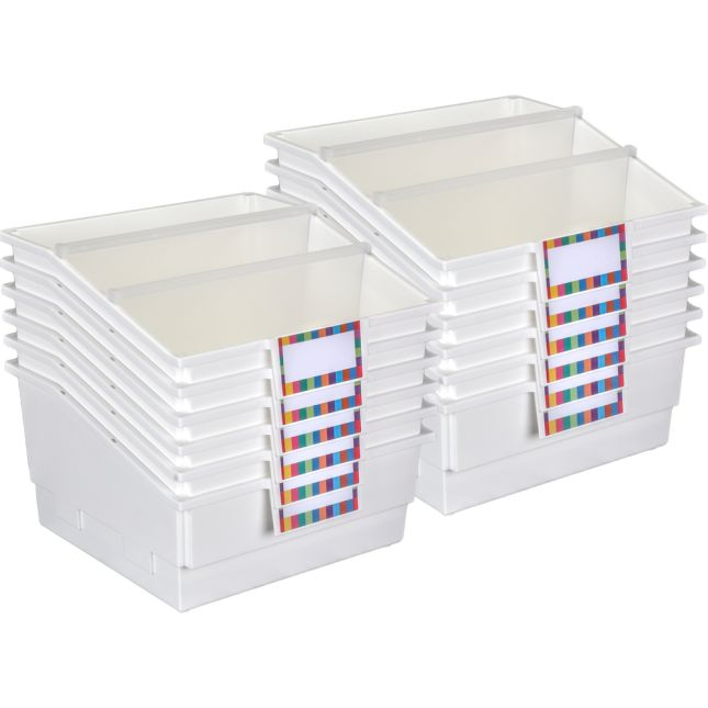 12-Pack Single-Color Picture Book Classroom Library Bins™ With Dividers