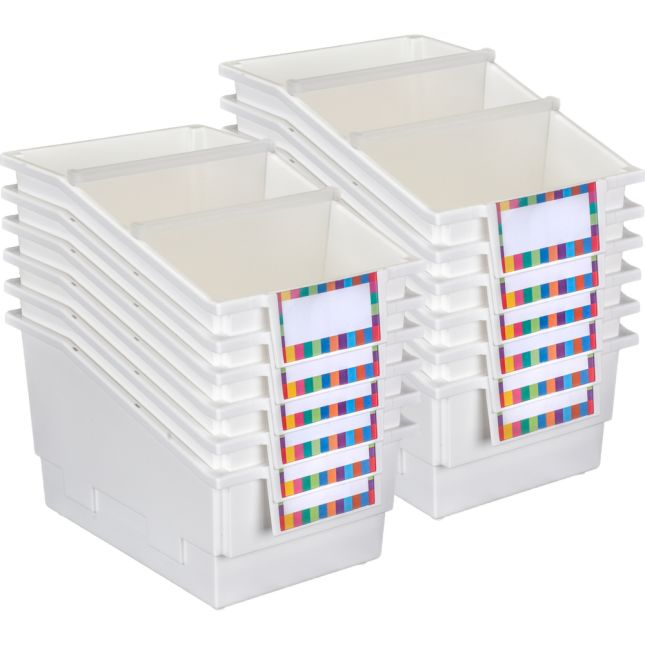 12-Pack Single-Color Chapter Book Library Bins™ With Dividers