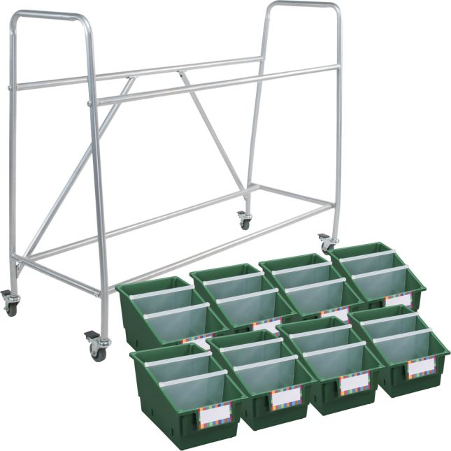 Really Good Classroom Library Rack With Chapter Book Bins™ With Dividers