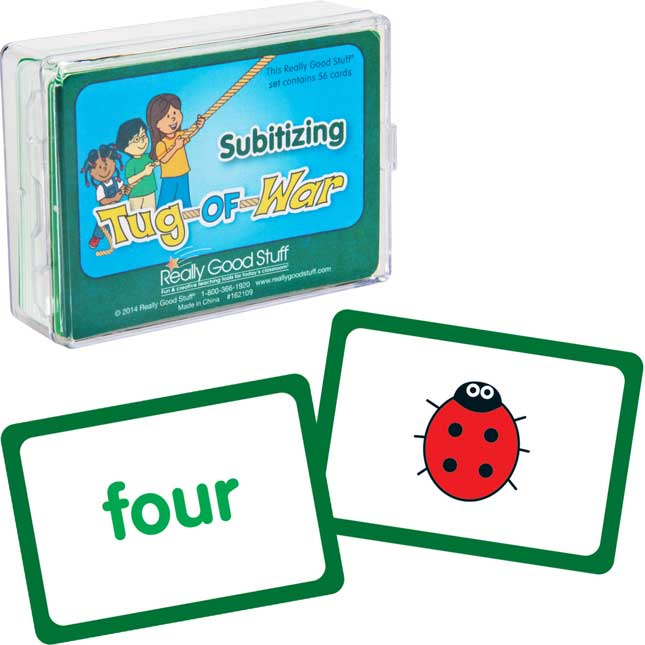 Really Good Tug Of War - Subitizing - 1 deck of 56 cards