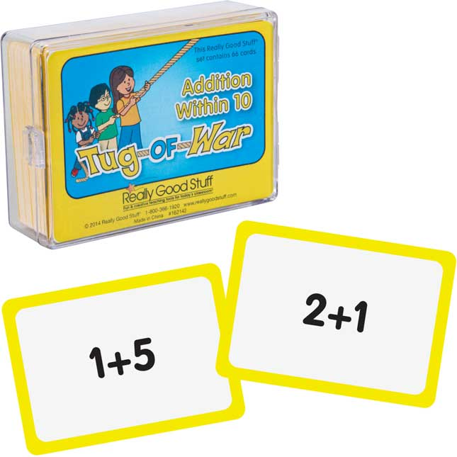 Really Good Tug Of War - Addition Within 10 - 1 deck of 66 cards