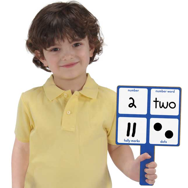 Early Learning Math Dry Erase Paddles