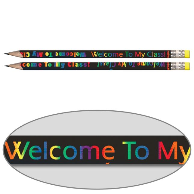 Welcome To My Class Pencils - Sharpened - 12 sharpened pencils