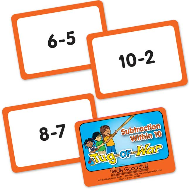 Tug of War Card Games - Early Math Skills
