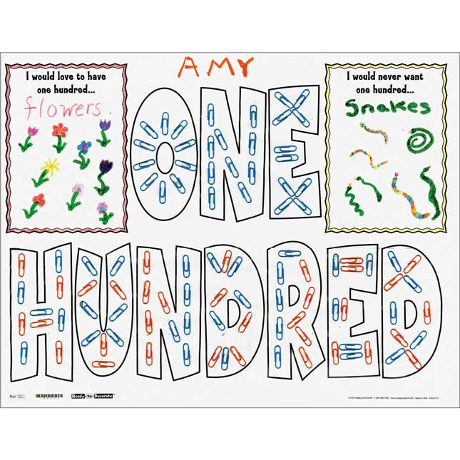 Ready-To-Decorate® Ten Groups Of Ten Is One Hundred Posters - 24 posters