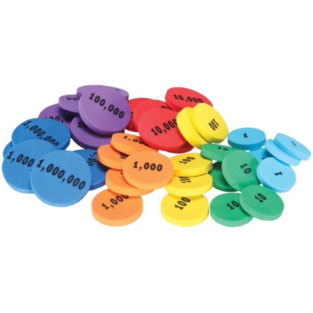 Place Value Foam Tokens