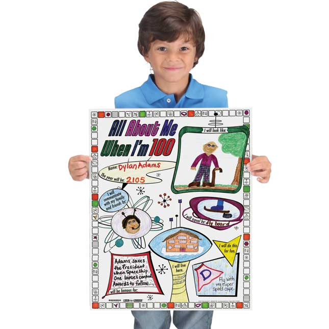 Ready-To-Decorate® All About Me When I'm 100 Years Old Posters