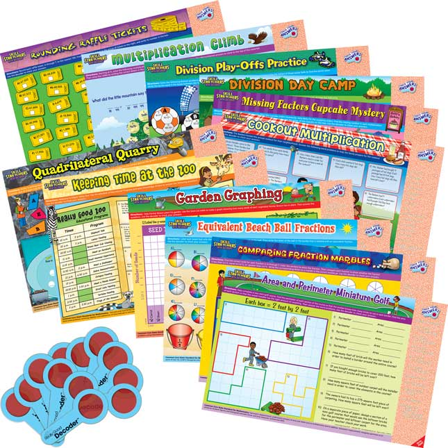 Skill Stretchers With Decoders™ Kit: Grade 3 Math