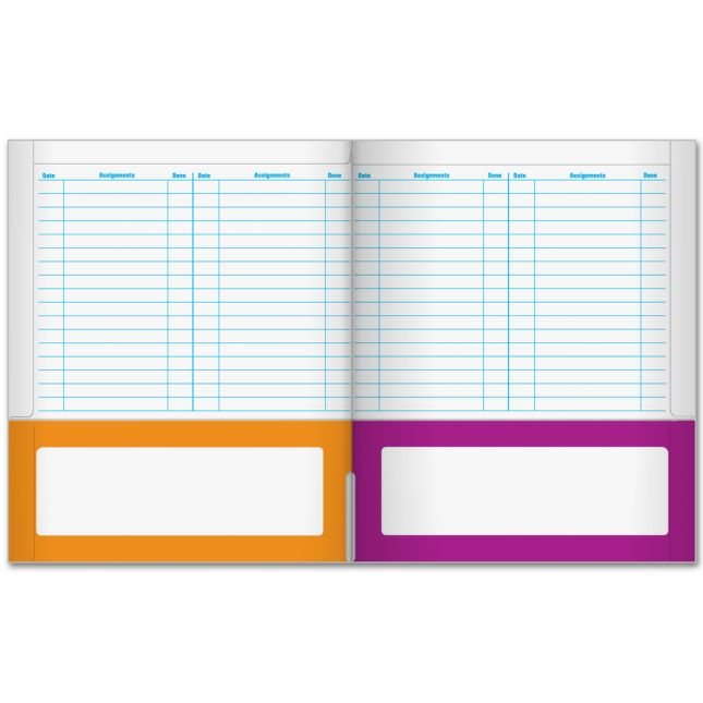Organizing Folders with Helpful Tips - 6 Pocket - 12 Pack