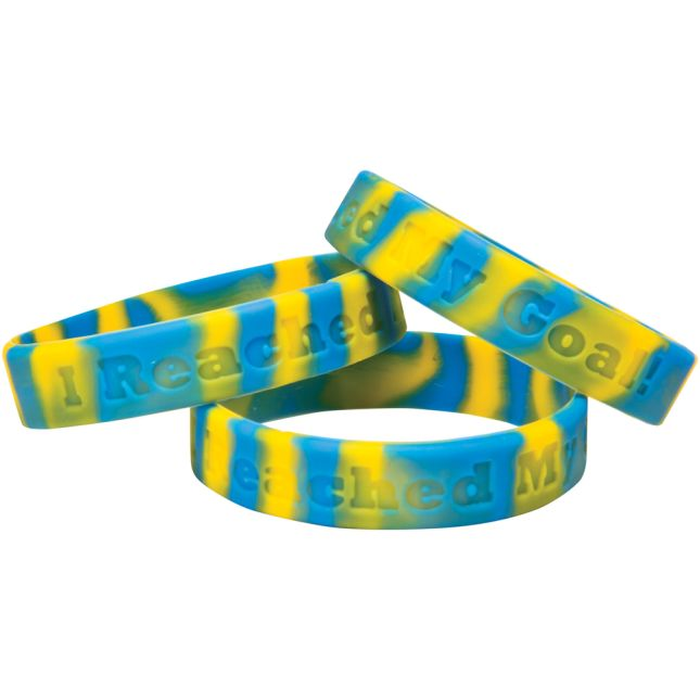I Reached My Goal! Silicone Bracelets Set