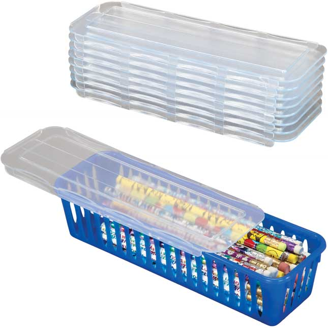 Sliding Lids For Pencil And Marker Baskets