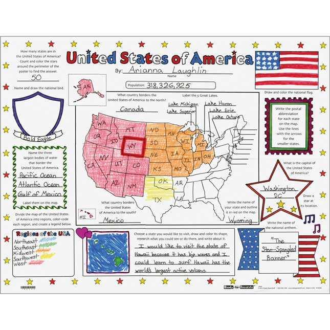 Ready-To-Decorate® United States Of America Posters