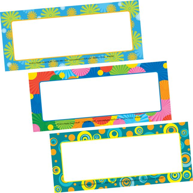 Decorative Classroom Label Magnets - Patterns