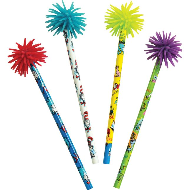Dr. Seuss™ Rainbow Writer Pencils - 12 pencils with toppers