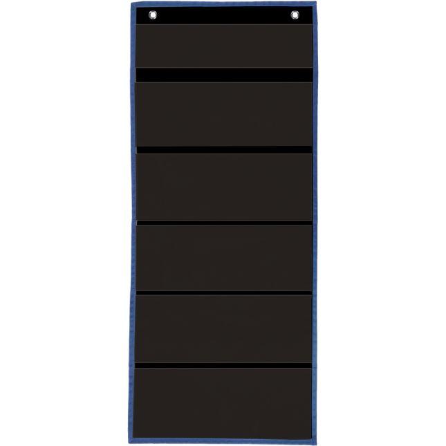 Black Multipurpose Pocket Chart™ - 1 pocket chart, 18 cards