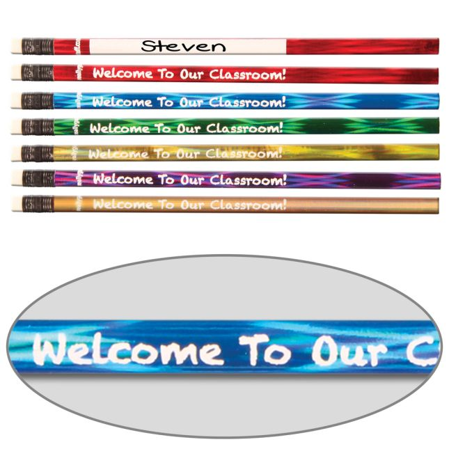 Welcome To Our Classroom Customizable Pencils