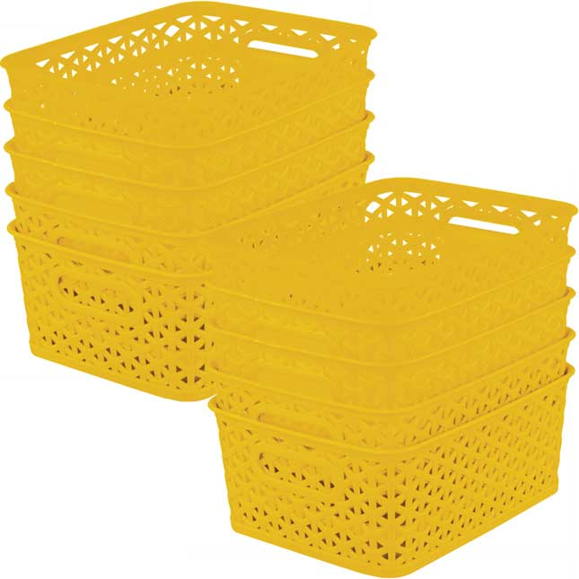 Book And Supply Baskets, Medium Rectangle - 12-Pack