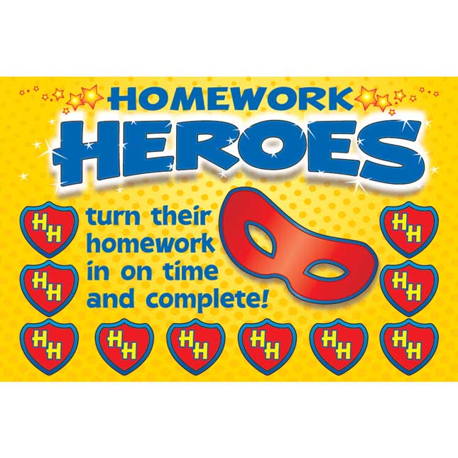 Homework Hero Earn-And-Return Punch Cards - 68 punch cards