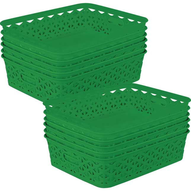 Classroom Paper And Supply Baskets - 12-Pack
