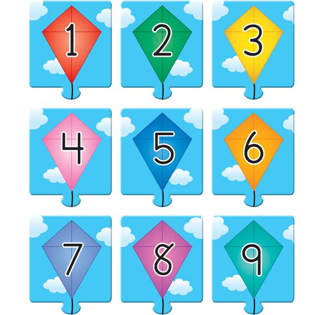 Kites And Tails Puzzles Set - Decomposing Numbers To 10