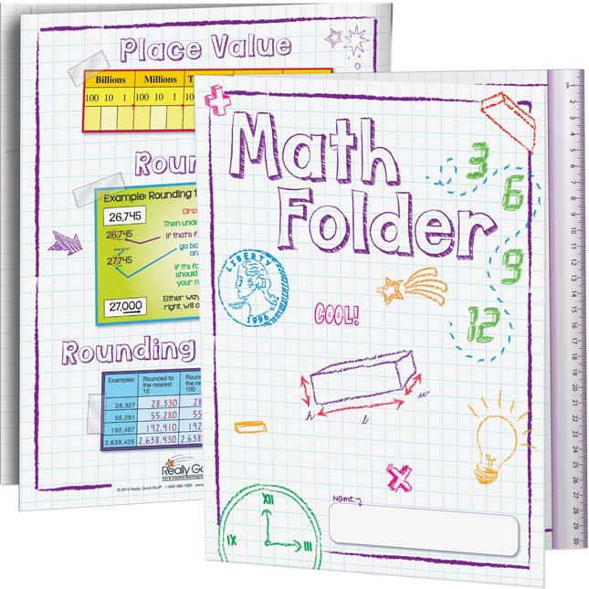 Math Tri-Fold 3-Pocket Folders