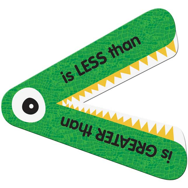 Greater Than Or Less Than Student Manipulatives - 12 gators_0