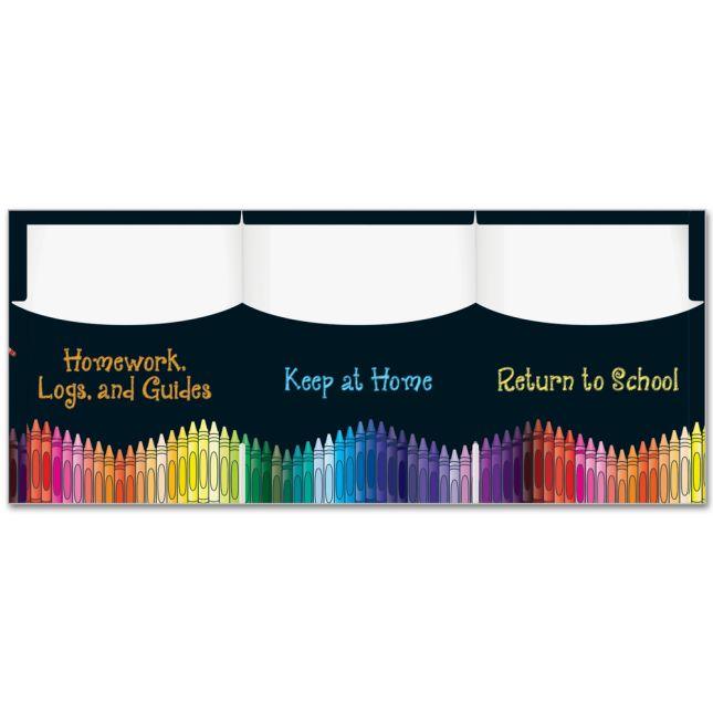 Homework Folders with Checklist - 3 Pocket - 12 Pack