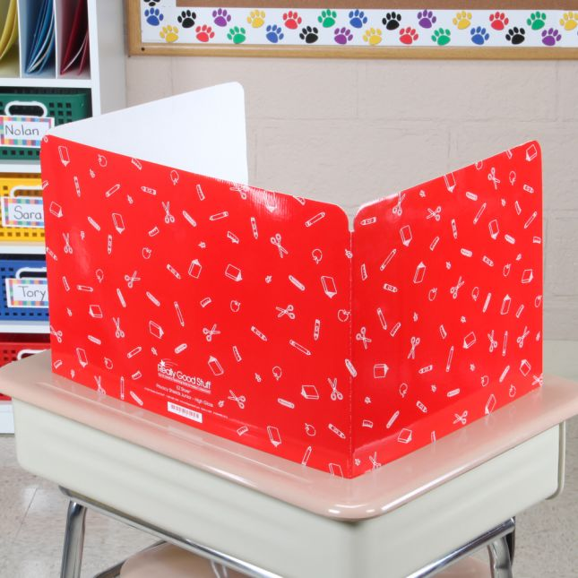 Standard Privacy Shields - Set of 12 - Red - Glossy