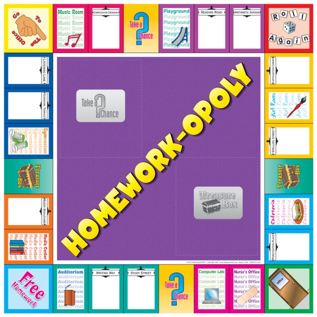 Homework-opoly Poster and Magnet Kit