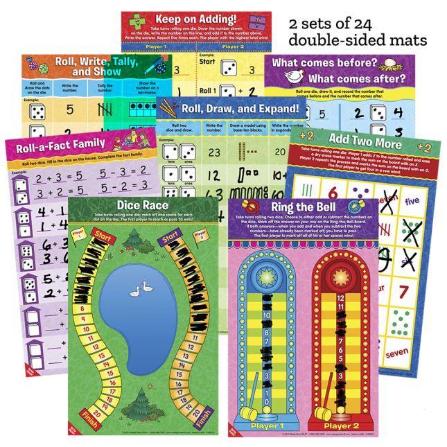 Math Mat Dice Games -Grades K-2
