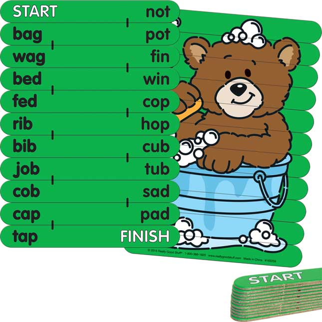 CVC Rhyme Match Activity Sticks Set