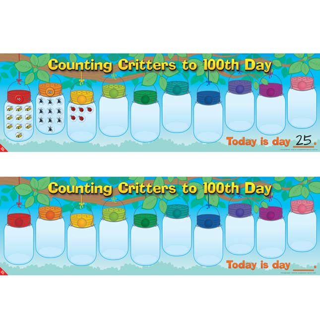 Counting Critters To 100th Day Stickers