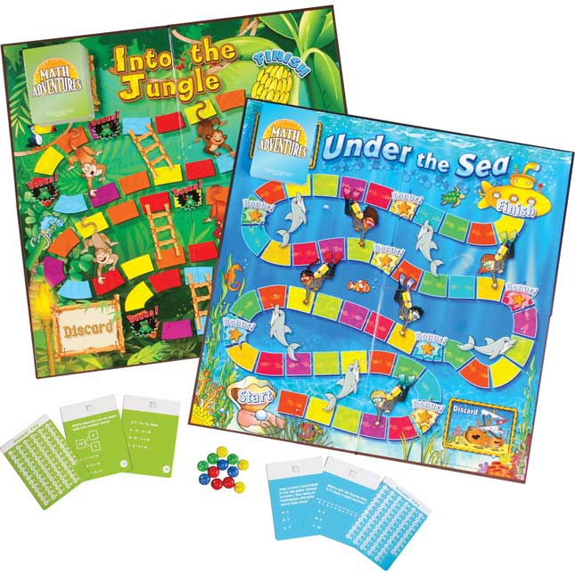 Grades K-1 Math Adventures Games - Set 1