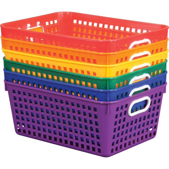 Group Colors For 6 - Book Baskets, Large - 6 baskets