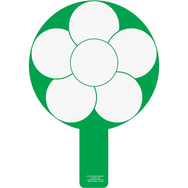 Dry Erase Paddles With Flower-Shaped Graphic Organizer