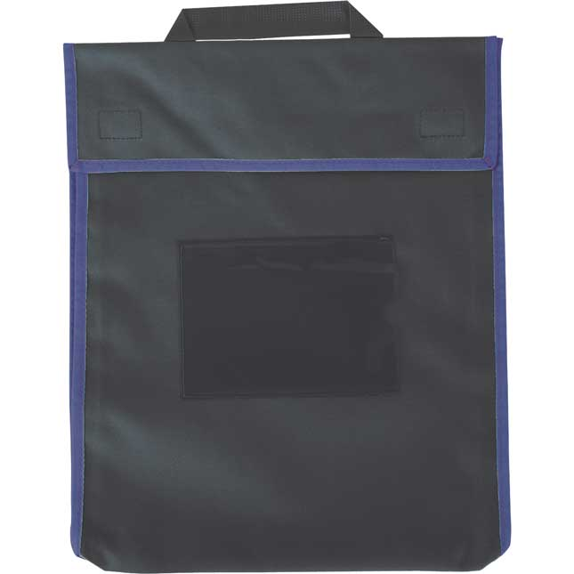 Store More® Large Book Pouches - Black With Primary Trim - Set Of 4