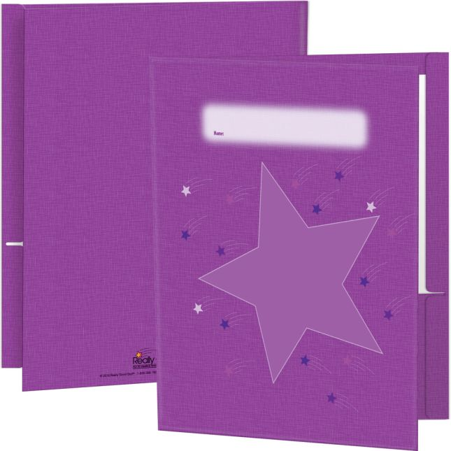Star Group Color Folders 6 Colors - 2 Pocket - 12 Pack