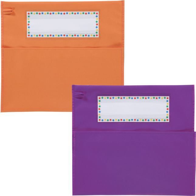 Grouping Chair Pockets - 12 Pack - 6 Group Colors - Assorted