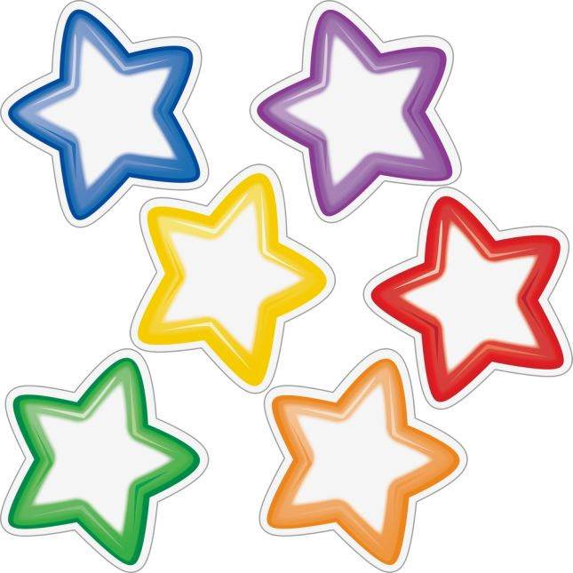 Group-Color Student Name Star Magnets - 6 Colors